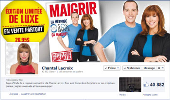 Page Facebook de Chantal Lacroix